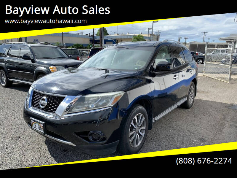 2013 Nissan Pathfinder for sale at Bayview Auto Sales in Waipahu HI