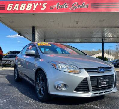2013 Ford Focus for sale at GABBY'S AUTO SALES in Valparaiso IN