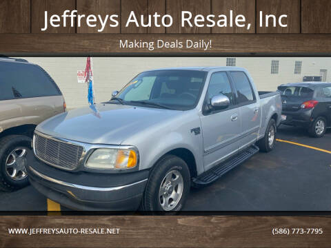 2002 Ford F-150 for sale at Jeffreys Auto Resale, Inc in Clinton Township MI
