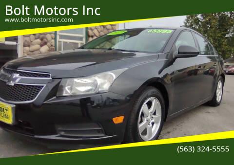 2013 Chevrolet Cruze for sale at Bolt Motors Inc in Davenport IA