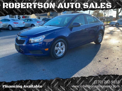 2012 Chevrolet Cruze for sale at ROBERTSON AUTO SALES in Bowling Green KY
