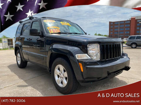 2010 Jeep Liberty for sale at A & D Auto Sales in Joplin MO