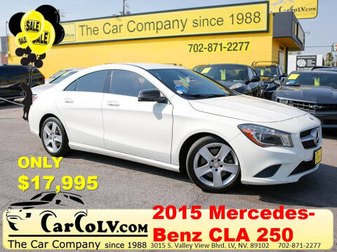 2015 Mercedes-Benz CLA for sale at The Car Company in Las Vegas NV