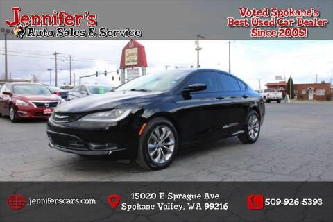 2015 Chrysler 200 for sale at Jennifer's Auto Sales in Spokane Valley WA
