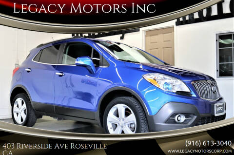 2015 Buick Encore for sale at Legacy Motors Inc in Roseville CA