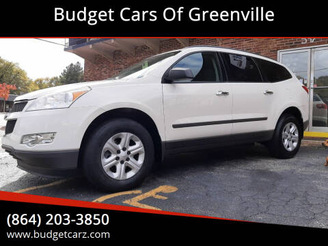 2012 Chevrolet Traverse for sale at Budget Cars Of Greenville in Greenville SC
