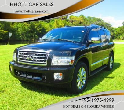2008 Infiniti QX56 for sale at HHOTT CAR SALES in Deerfield Beach FL