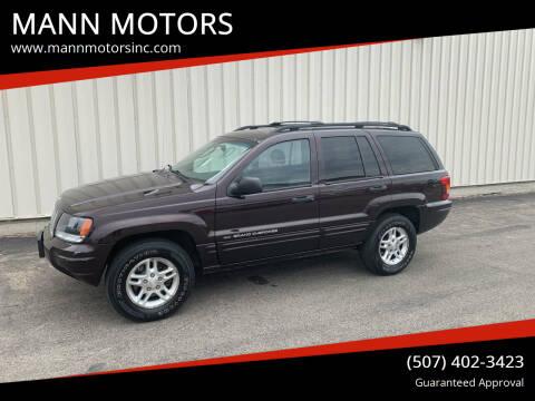 2004 Jeep Grand Cherokee for sale at MANN MOTORS in Albert Lea MN