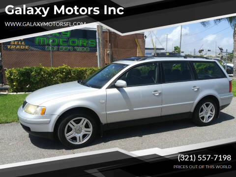 2000 Volkswagen Passat for sale at Galaxy Motors Inc in Melbourne FL