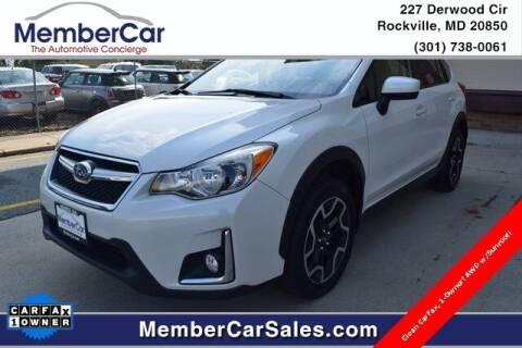2017 Subaru Crosstrek for sale at MemberCar in Rockville MD