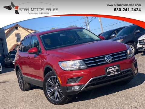2018 Volkswagen Tiguan for sale at Star Motor Sales in Downers Grove IL