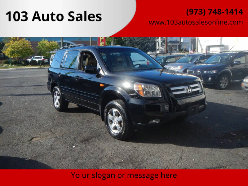 2008 Honda Pilot for sale at 103 Auto Sales in Bloomfield NJ