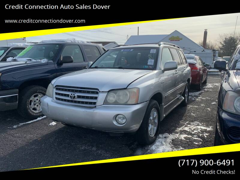 2002 Toyota Highlander for sale at Credit Connection Auto Sales Dover in Dover PA