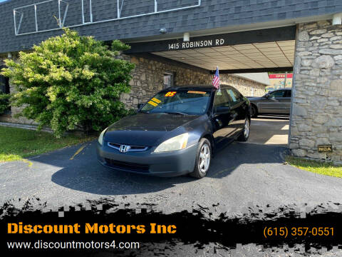 2005 Honda Accord for sale at Discount Motors Inc in Old Hickory TN