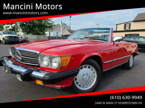 1986 Mercedes-Benz 560-Class for sale at Mancini Motors in Norristown PA