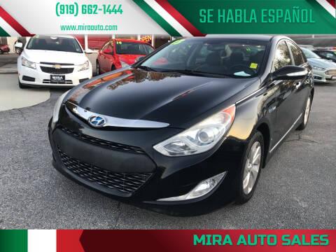 2013 Hyundai Sonata Hybrid for sale at Mira Auto Sales in Raleigh NC