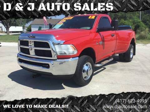 2012 RAM Ram Pickup 3500 for sale at D & J AUTO SALES in Joplin MO