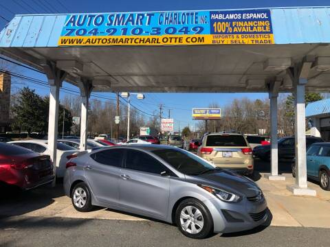 2016 Hyundai Elantra for sale at Auto Smart Charlotte in Charlotte NC