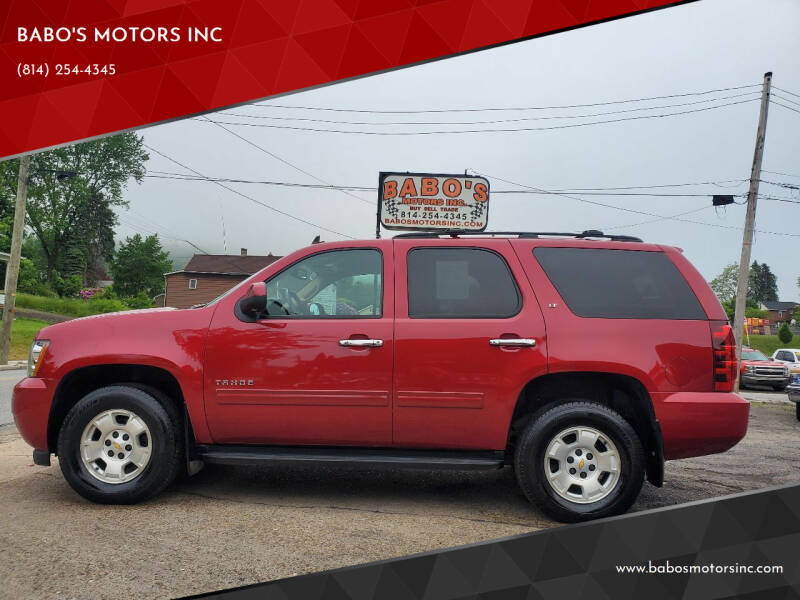 2012 Chevrolet Tahoe for sale at BABO'S MOTORS INC in Johnstown PA