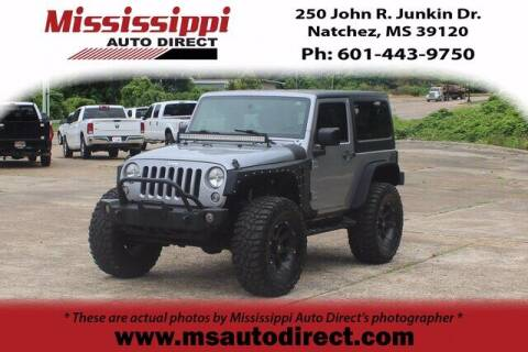 2016 Jeep Wrangler for sale at Auto Group South - Mississippi Auto Direct in Natchez MS