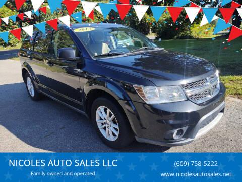 2013 Dodge Journey for sale at NICOLES AUTO SALES LLC in Cream Ridge NJ