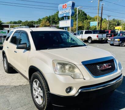 2010 GMC Acadia for sale at RD Motors, Inc in Charlotte NC