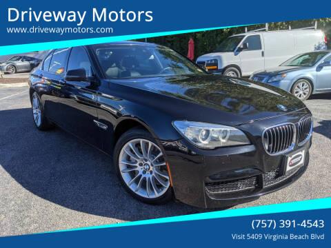 2013 BMW 7 Series for sale at Driveway Motors in Virginia Beach VA
