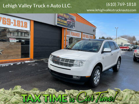 2009 Lincoln MKX for sale at Lehigh Valley Truck n Auto LLC. in Schnecksville PA