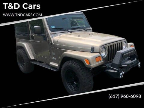2003 Jeep Wrangler for sale at T&D Cars in Holbrook MA