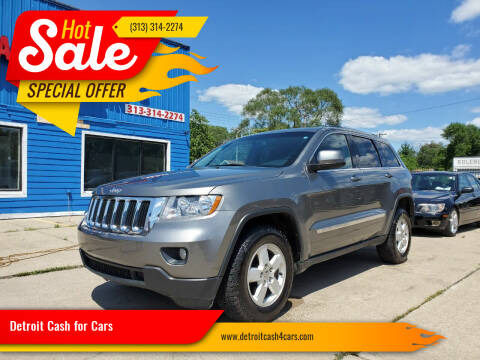 2013 Jeep Grand Cherokee for sale at Detroit Cash for Cars in Warren MI