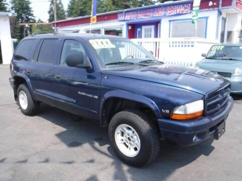 2000 Dodge Durango for sale at 777 Auto Sales and Service in Tacoma WA