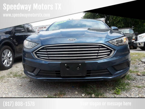 2018 Ford Fusion for sale at Speedway Motors TX in Fort Worth TX