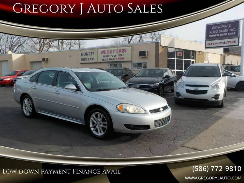 2012 Chevrolet Impala for sale at Gregory J Auto Sales in Roseville MI