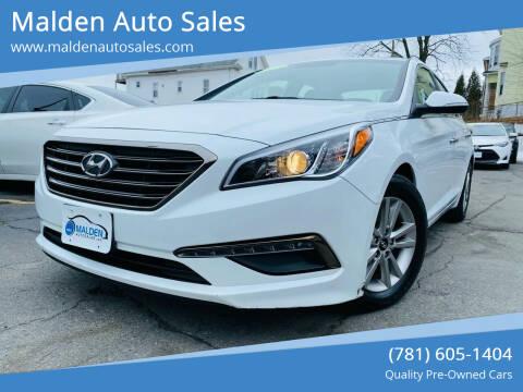 2015 Hyundai Sonata for sale at Malden Auto Sales in Malden MA