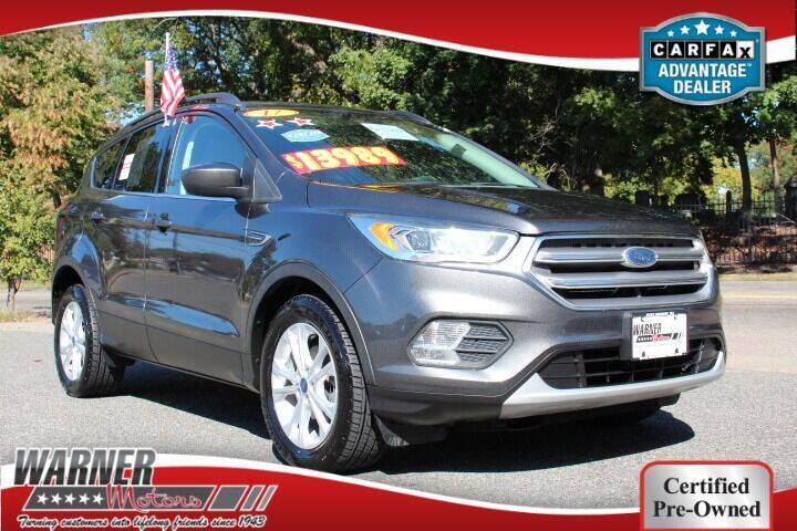 2017 Ford Escape for sale at Warner Motors in East Orange NJ
