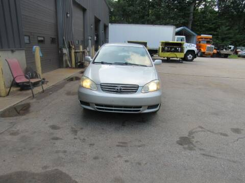 2003 Toyota Corolla for sale at Heritage Truck and Auto Inc. in Londonderry NH
