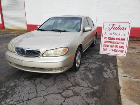 2001 Infiniti I30 for sale at Fabos Auto Sales LLC in Fitzgerald GA