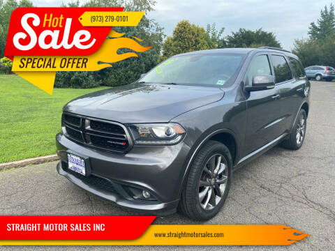 2018 Dodge Durango for sale at STRAIGHT MOTOR SALES INC in Paterson NJ
