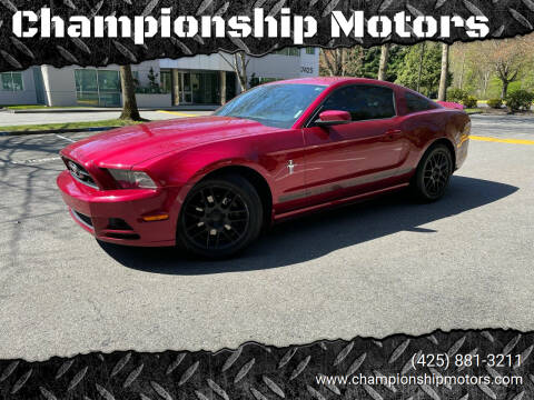 2014 Ford Mustang for sale at Championship Motors in Redmond WA