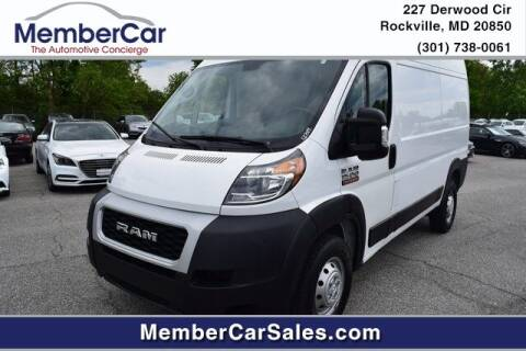 2019 RAM ProMaster Cargo for sale at MemberCar in Rockville MD