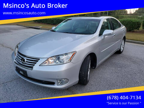 2011 Lexus ES 350 for sale at Msinco's Auto Broker in Snellville GA