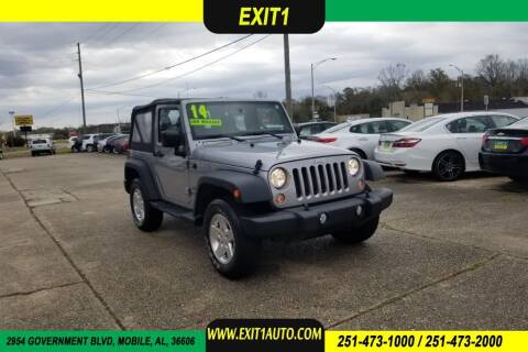 2014 Jeep Wrangler for sale at Exit 1 Auto in Mobile AL