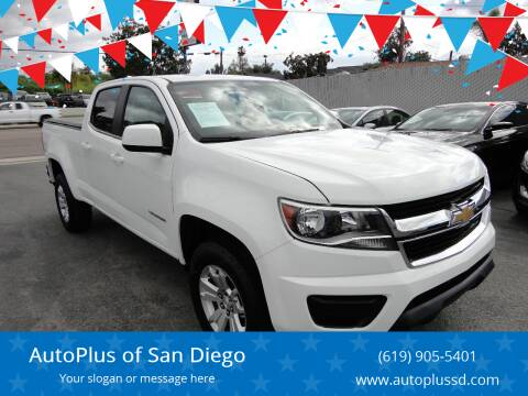 2018 Chevrolet Colorado for sale at AutoPlus of San Diego in Spring Valley CA