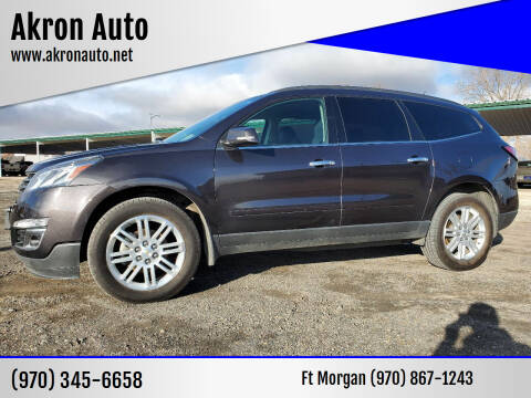 2015 Chevrolet Traverse for sale at Akron Auto in Akron CO
