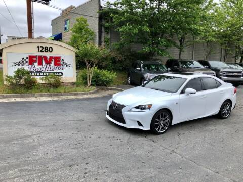 2014 Lexus IS 250 for sale at Five Brothers Auto Sales in Roswell GA