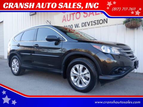 2014 Honda CR-V for sale at CRANSH AUTO SALES, INC in Arlington TX