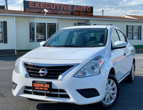 2016 Nissan Versa for sale at Executive Auto in Winchester VA