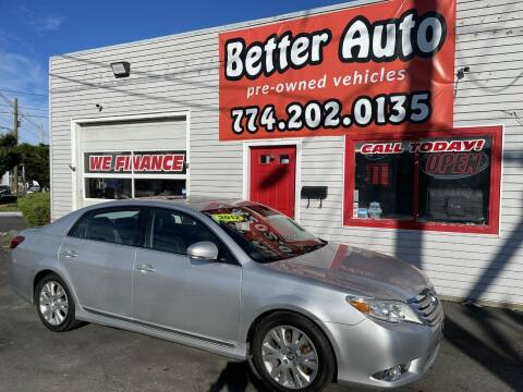 2012 Toyota Avalon for sale at Better Auto in Dartmouth MA