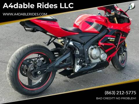 2005 Honda 600 RR for sale at A4dable Rides LLC in Haines City FL