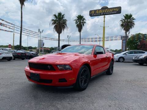 2012 Ford Mustang for sale at A MOTORS SALES AND FINANCE - 5630 San Pedro Ave in San Antonio TX